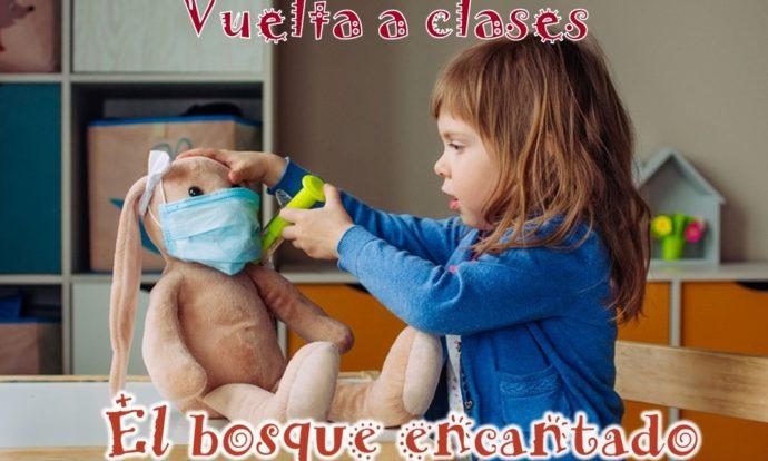 niña escuela infantil mascarilla proteccion higiene
